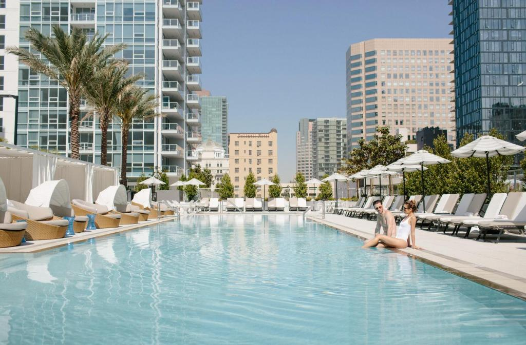 The swimming pool at or near LEVEL Los Angeles Downtown - South Olive