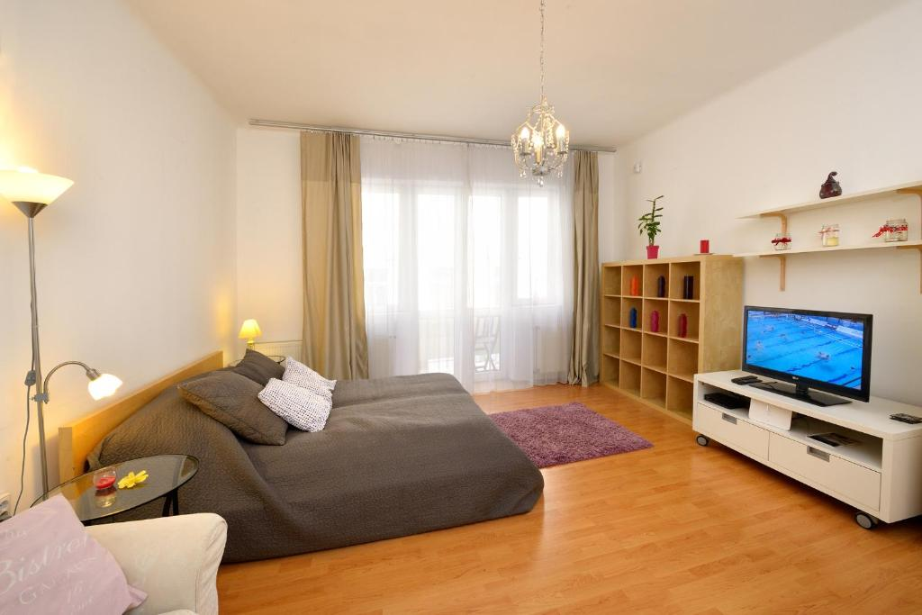 A television and/or entertainment center at Andrassy Downtown Apartment