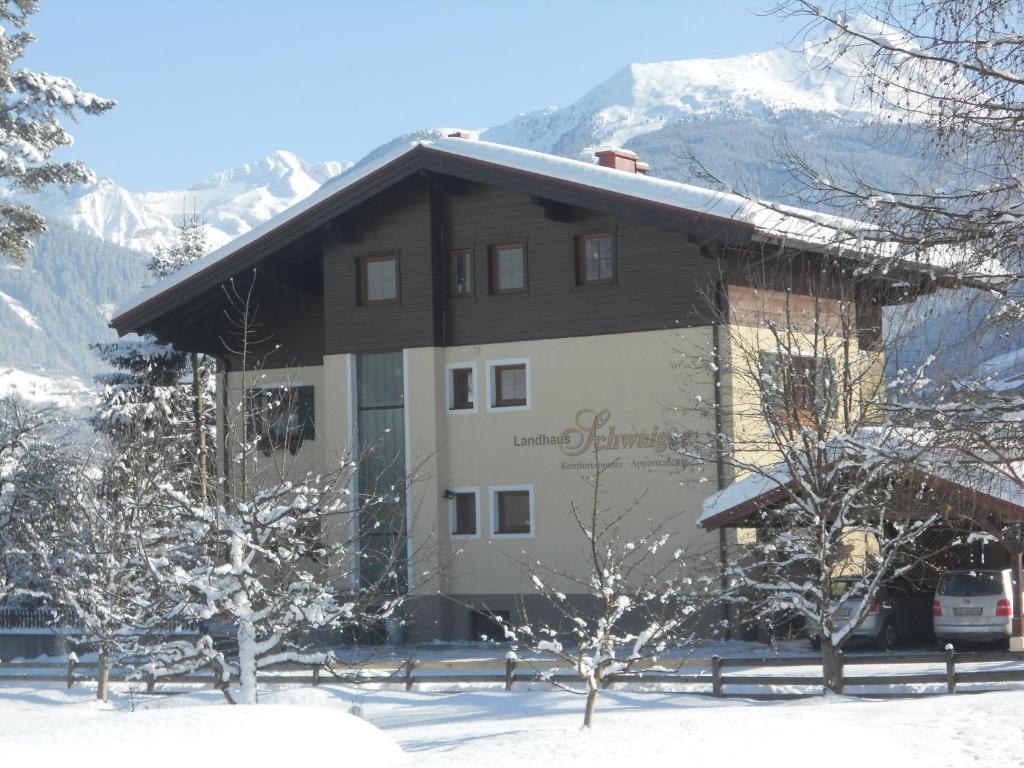 Landhaus Schwaiger during the winter