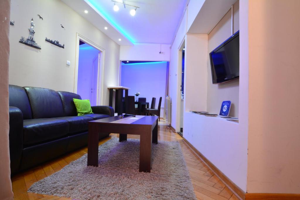 Area soggiorno di Lux Apartment in Belgrade