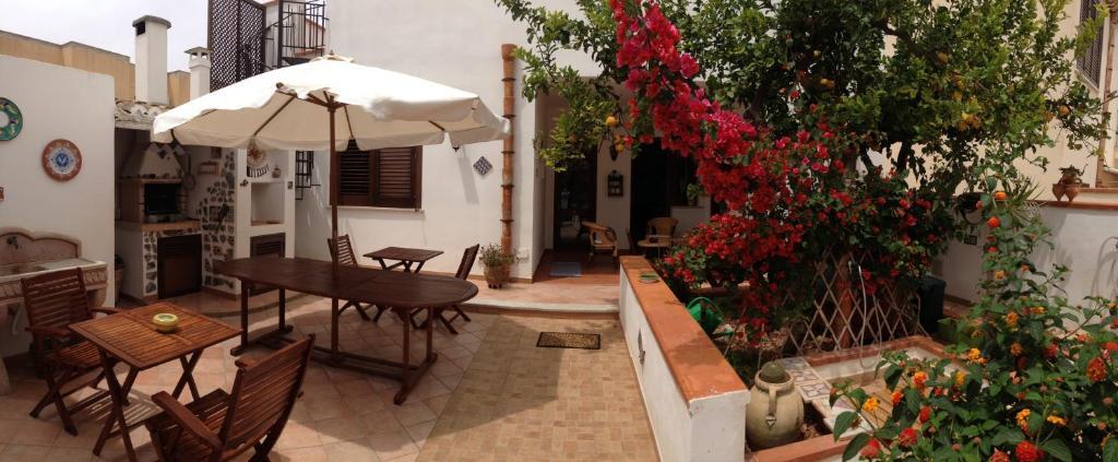A porch or other outdoor area at La Terrazza Di San Vito