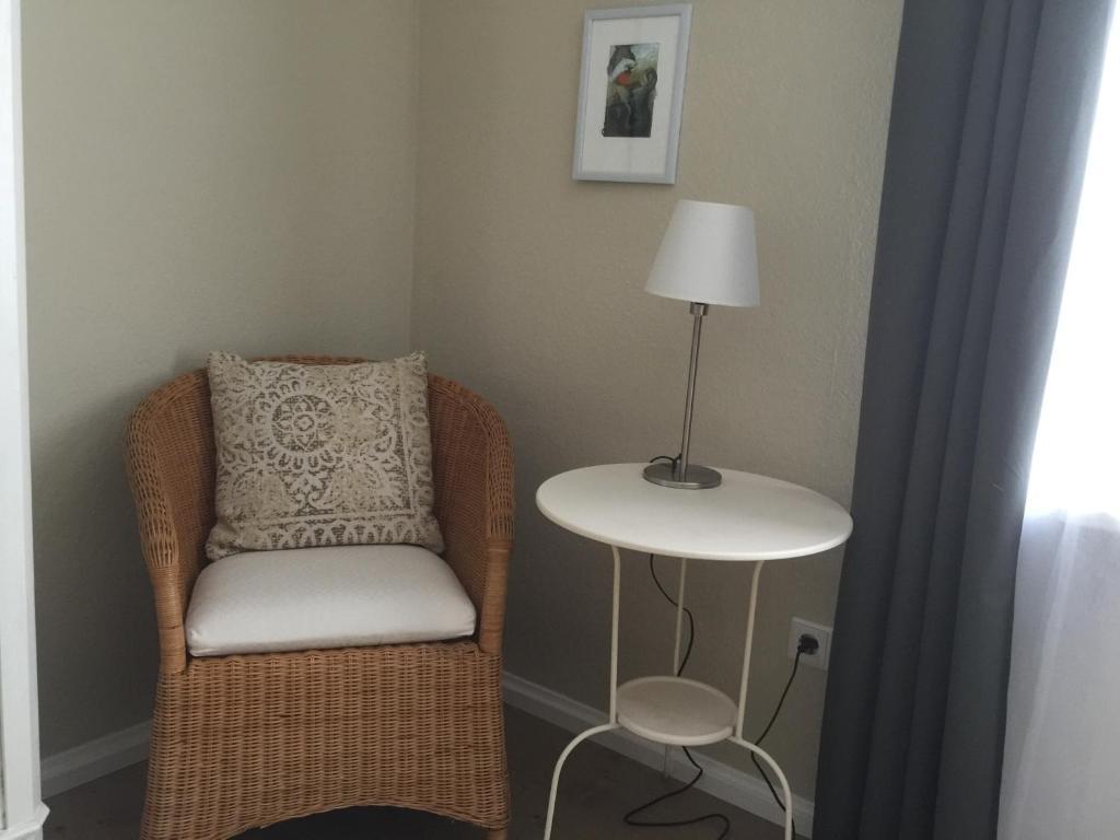 Ein Sitzbereich in der Unterkunft SEELIG`S