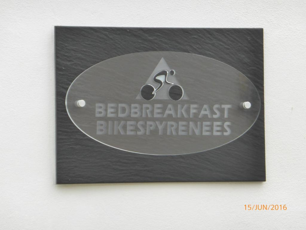 A certificate, award, sign, or other document on display at Bedbreakfastbikespyrenees