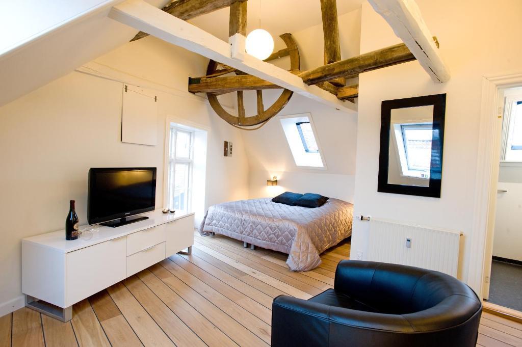 Et værelse på Den Gamle Købmandsgaard Bed & Breakfast