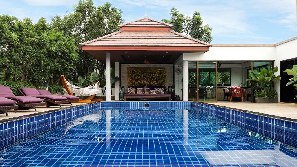 The swimming pool at or near Phuket Cleanse Fitness & Health Retreat