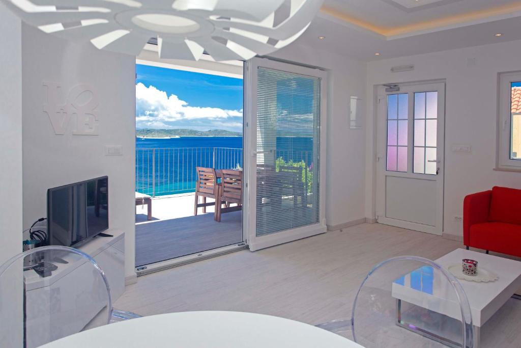 A balcony or terrace at Blue Bay Residence