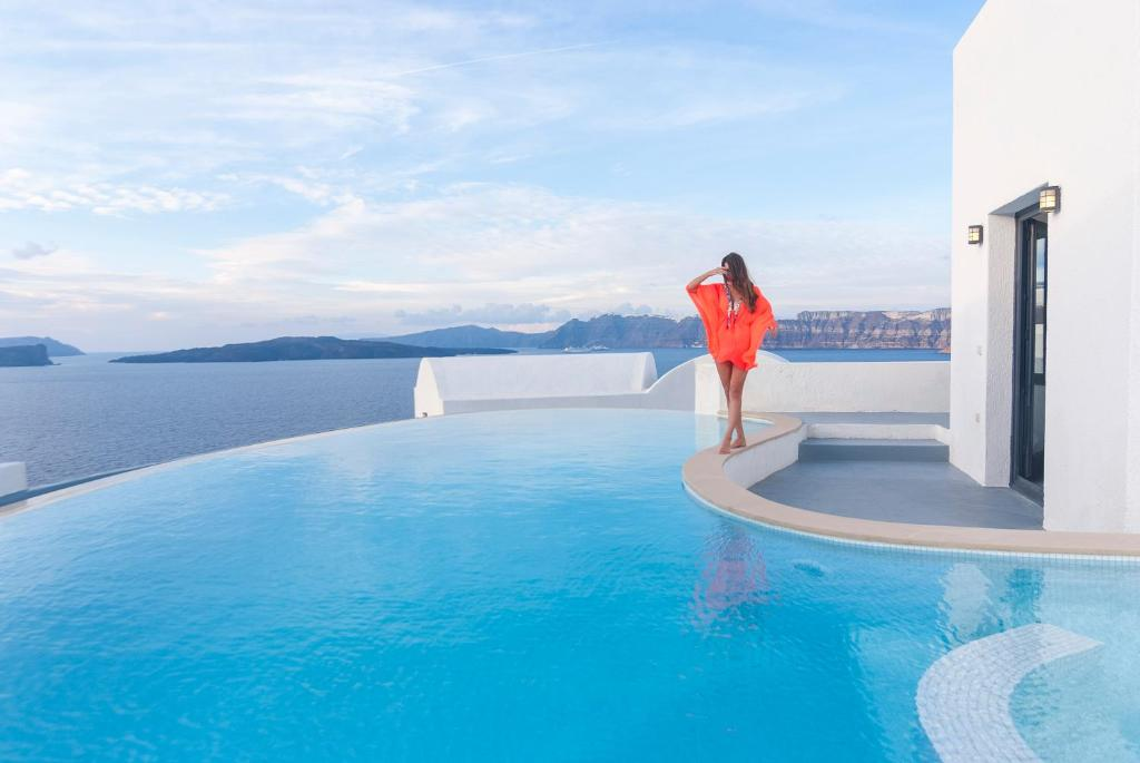 The swimming pool at or near Ambassador Aegean Luxury Hotel & Suites