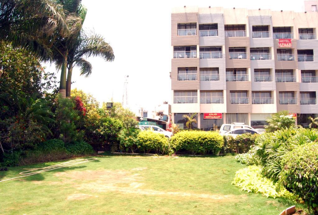 A garden outside Hotel Apaar