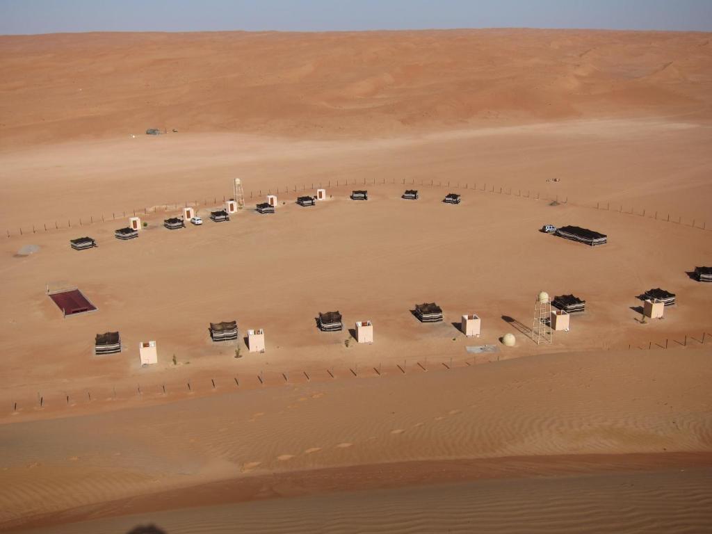 A bird's-eye view of Desert Retreat Camp