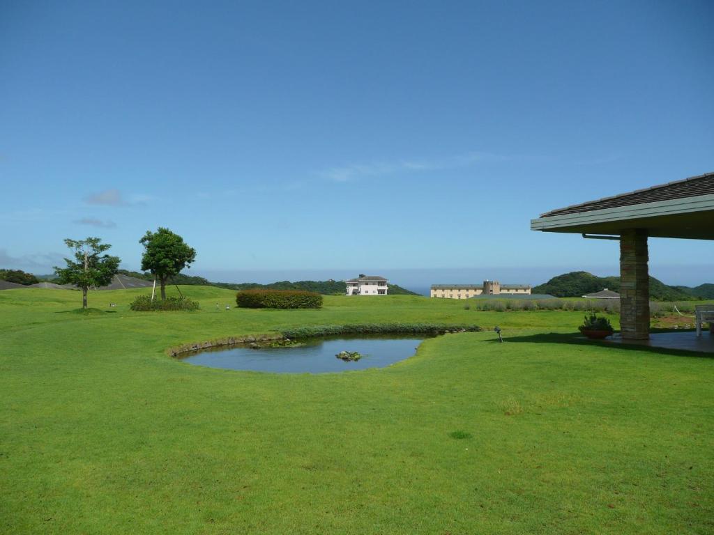 A garden outside Hotel Blueberry Hill Katsuura