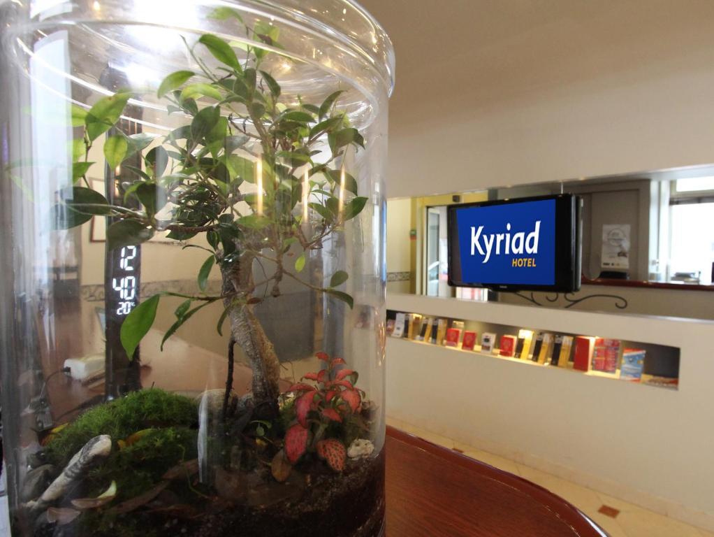 El vestíbulo o zona de recepción de Kyriad Hotel XIII Italie Gobelins