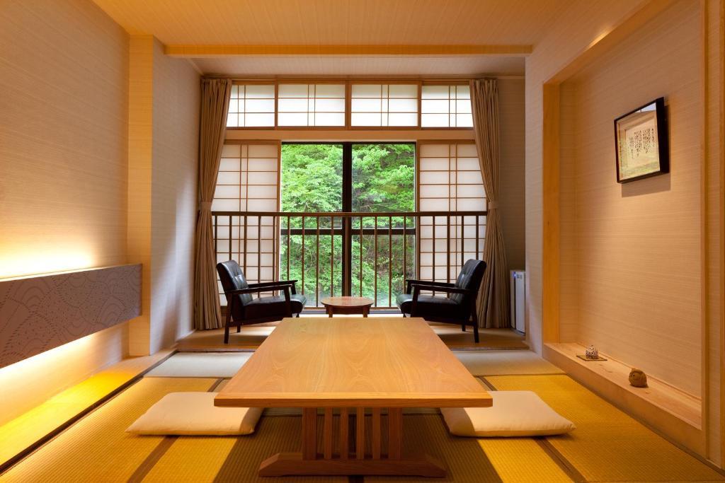 The lounge or bar area at Shosuke-no-Yado Takinoyu