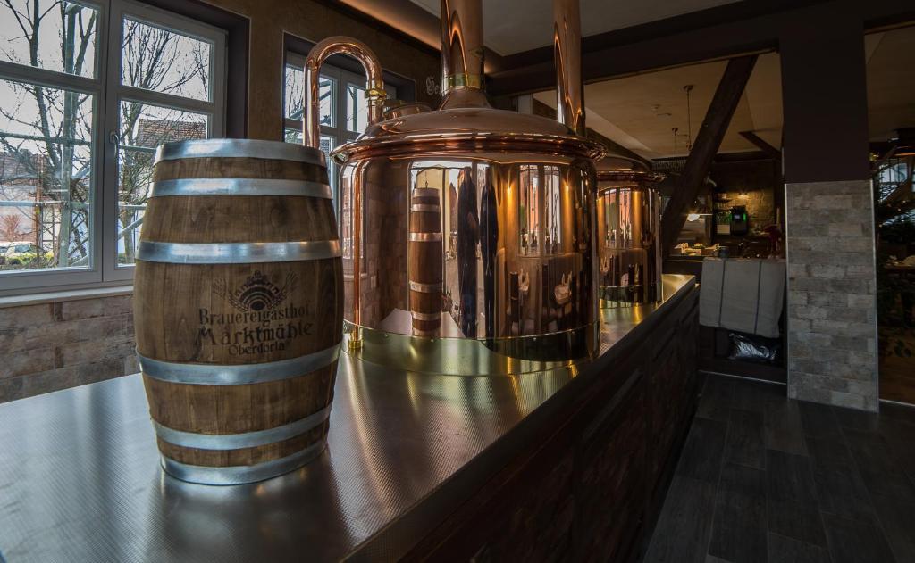 Getränke in der Unterkunft Brauereigasthof Marktmühle