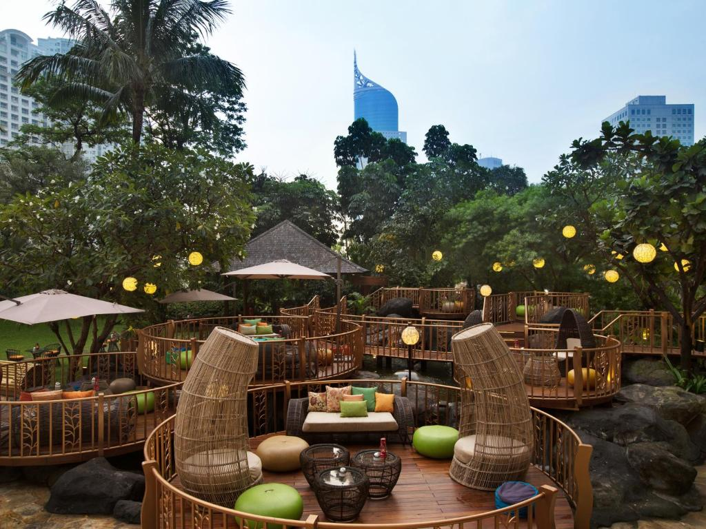 A patio or other outdoor area at AYANA Midplaza JAKARTA