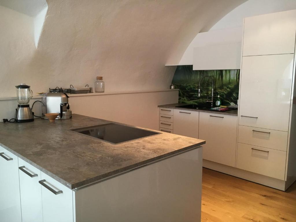 Küche/Küchenzeile in der Unterkunft Apartment Enzinger