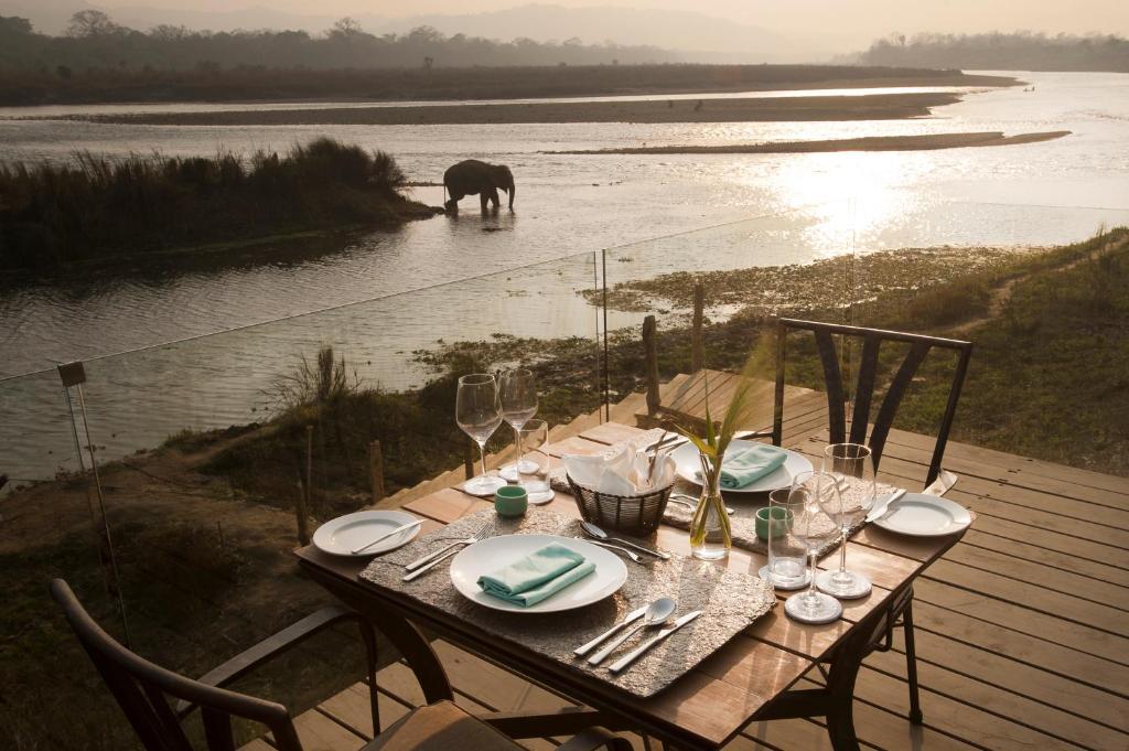 A restaurant or other place to eat at Meghauli Serai Chitwan National Park - A Taj Safari Lodge