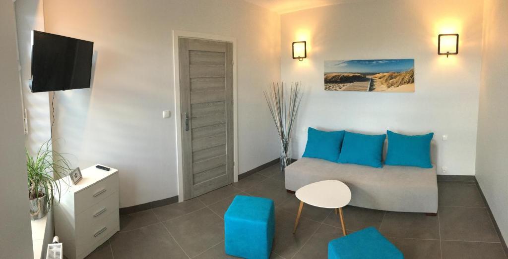Część wypoczynkowa w obiekcie Panorama Gdynia Rooms