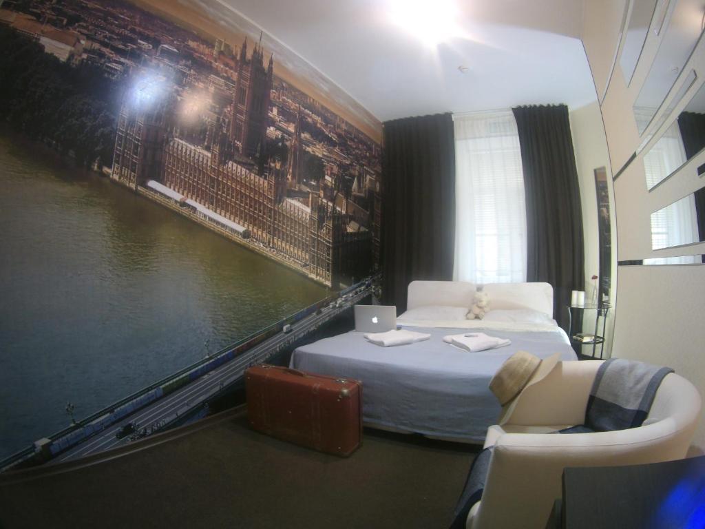 Кровать или кровати в номере Мини-отель Фонтанка 64