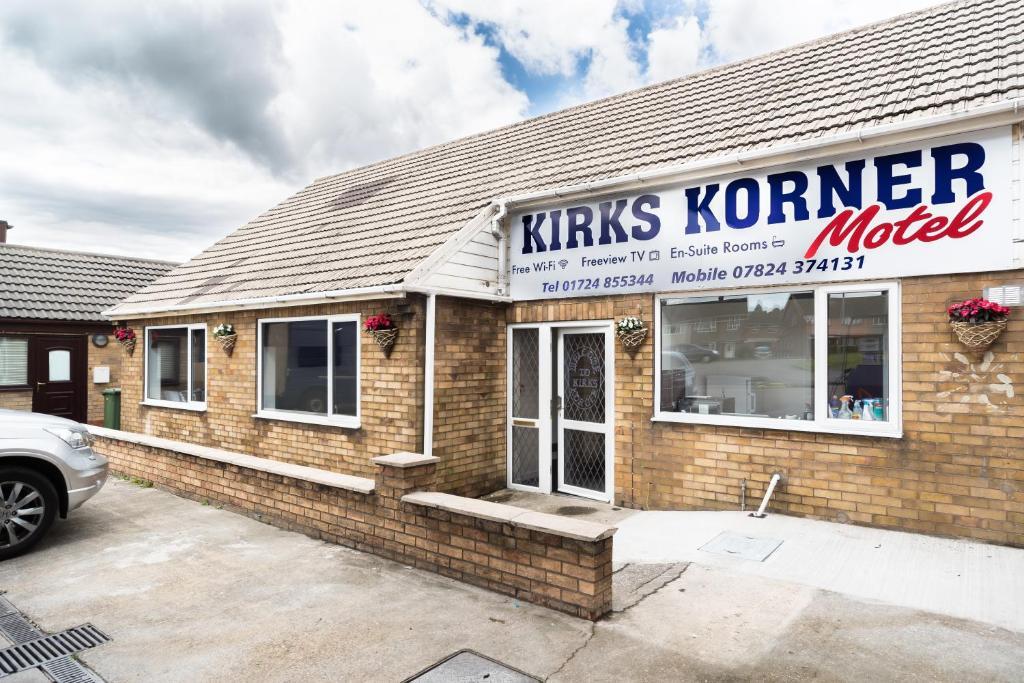 The facade or entrance of Kirks Korner Motel
