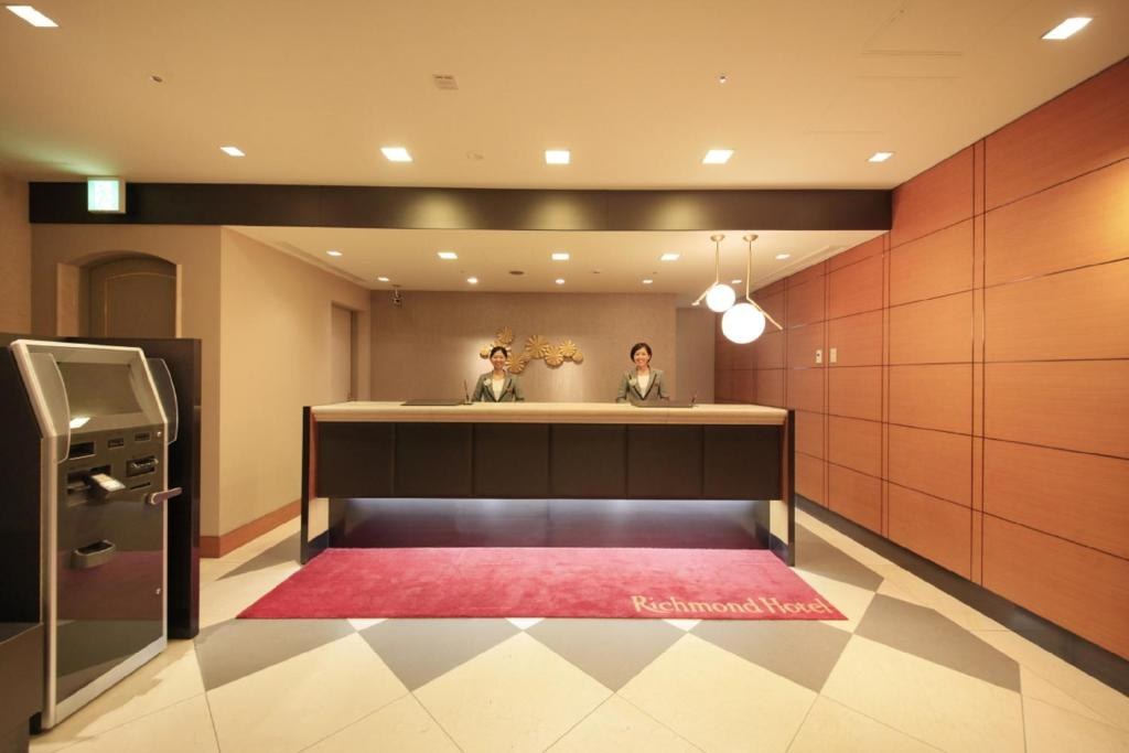 The lobby or reception area at Richmond Hotel Tokyo Mejiro