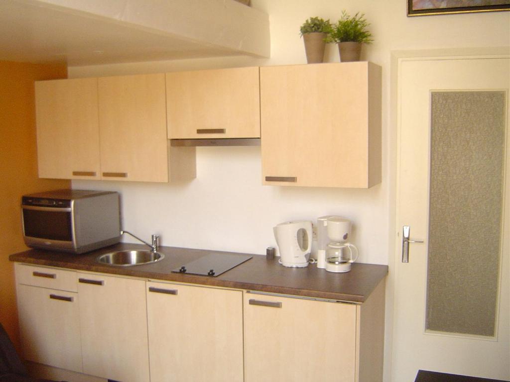 A kitchen or kitchenette at Studio Longchamp