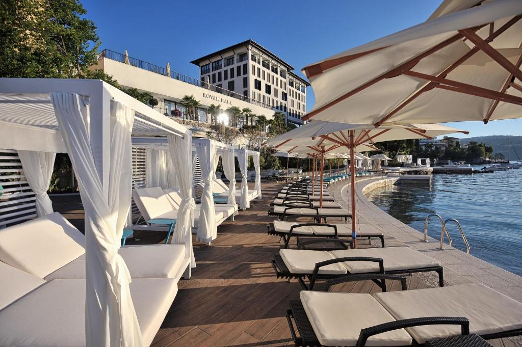 A patio or other outdoor area at Amadria Park Hotel Royal