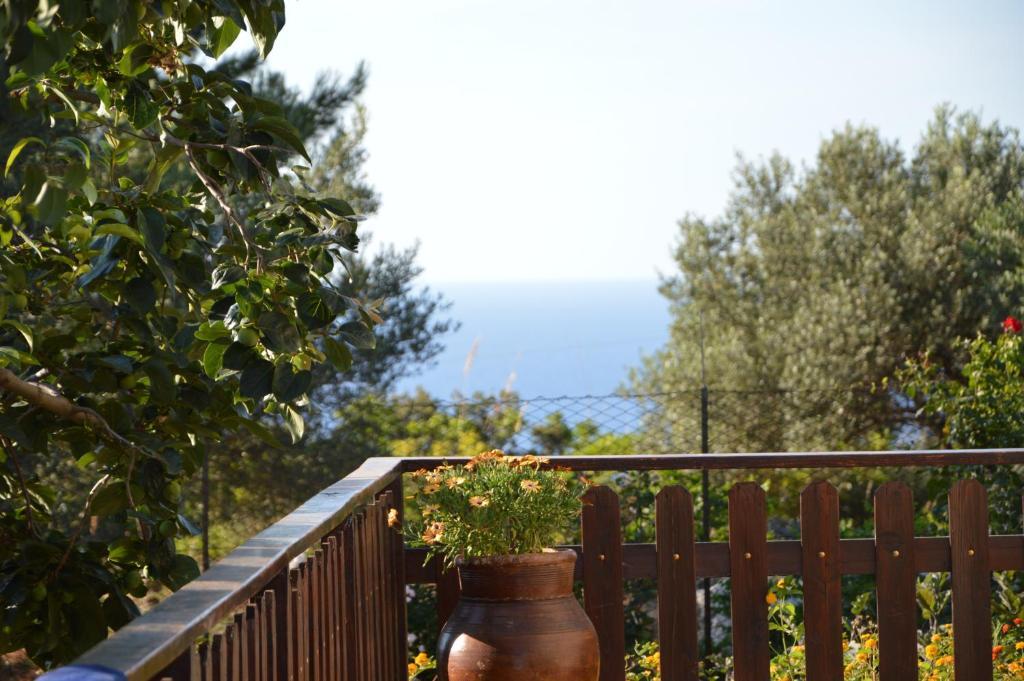 A balcony or terrace at Villino Marmora