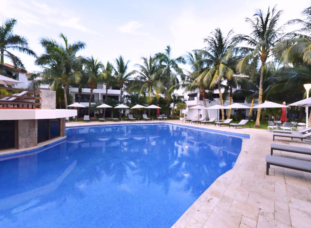 The swimming pool at or near Sina Suites