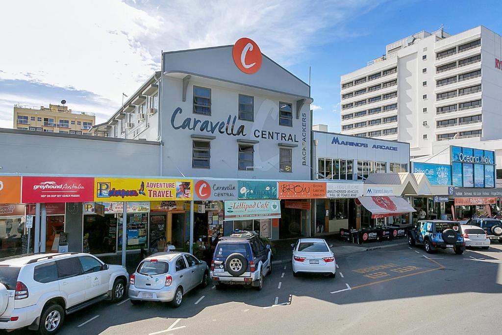 The facade or entrance of Caravella Central