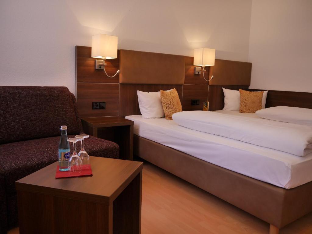 Ein Zimmer in der Unterkunft Romantica Hotel Blauer Hecht