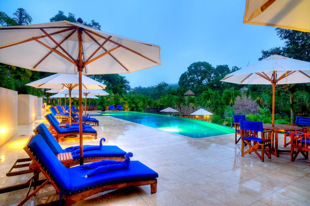 The swimming pool at or near The Lodge at ChaaCreek