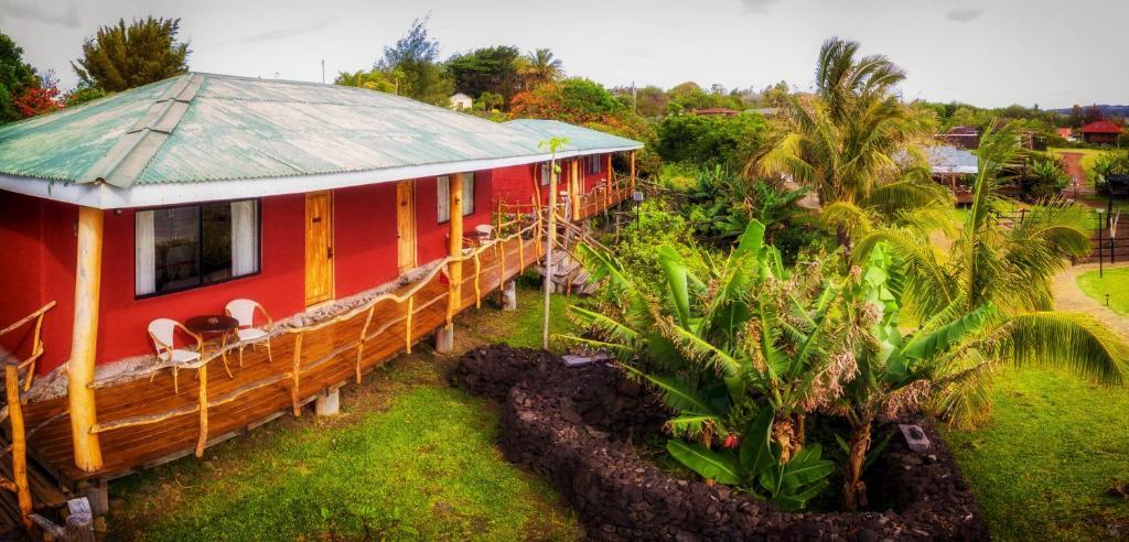 A garden outside Pikera Uri Eco Lodge