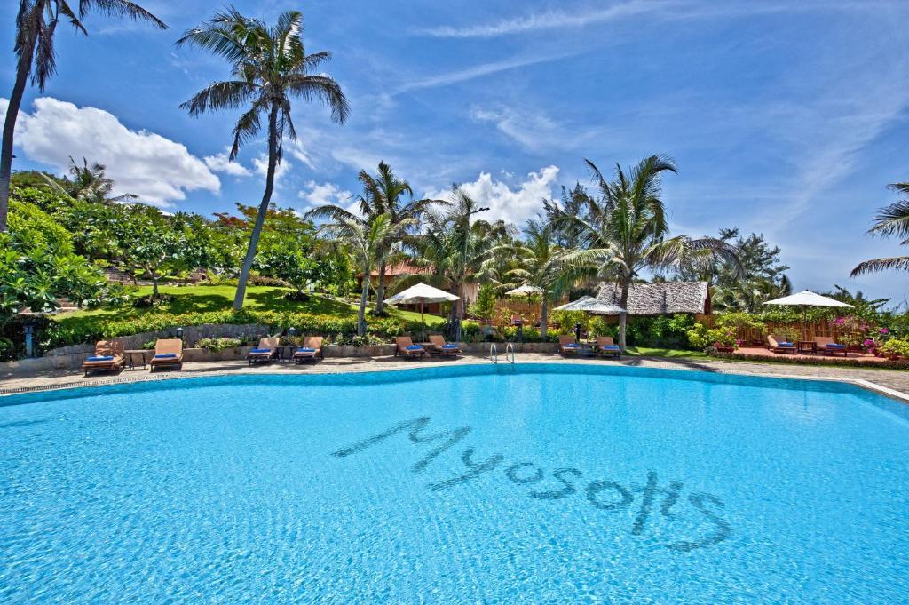 Piscine de l'établissement Takalau Residence & Resort ou située à proximité