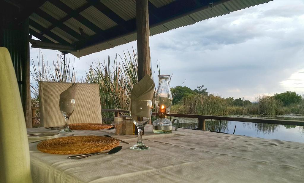 A patio or other outdoor area at Plettenberg Bay Game Reserve: The Baroness Safari Lodge