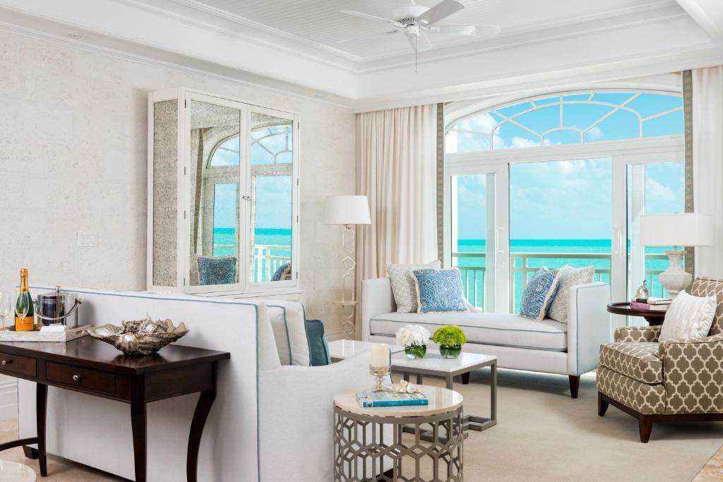 A seating area at The Shore Club Turks & Caicos