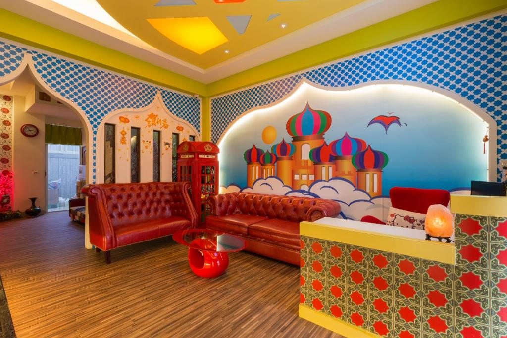 The lounge or bar area at Ali Ba Ba B&B
