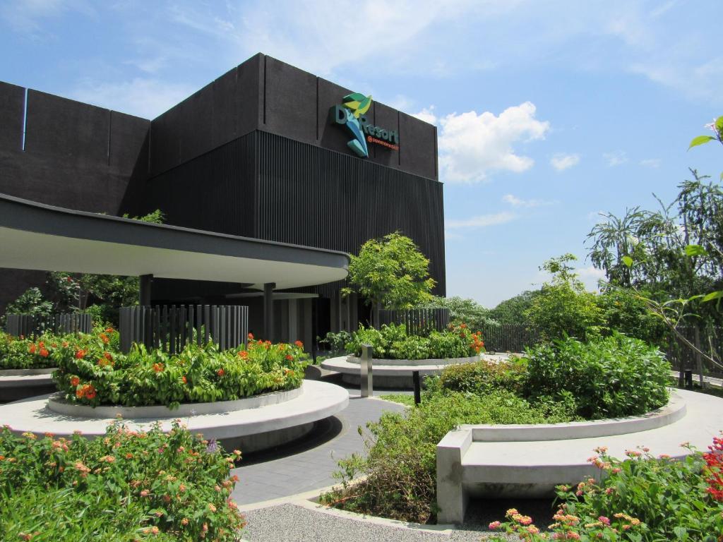 A garden outside D'Resort @ Downtown East