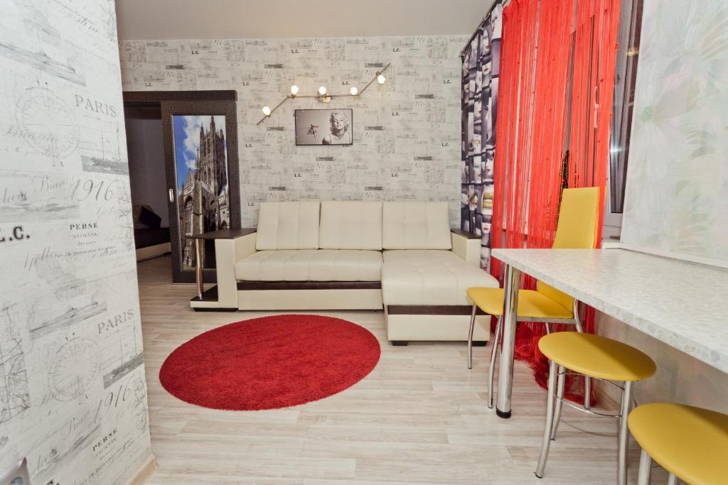 The lounge or bar area at Apartments at Gorkogo