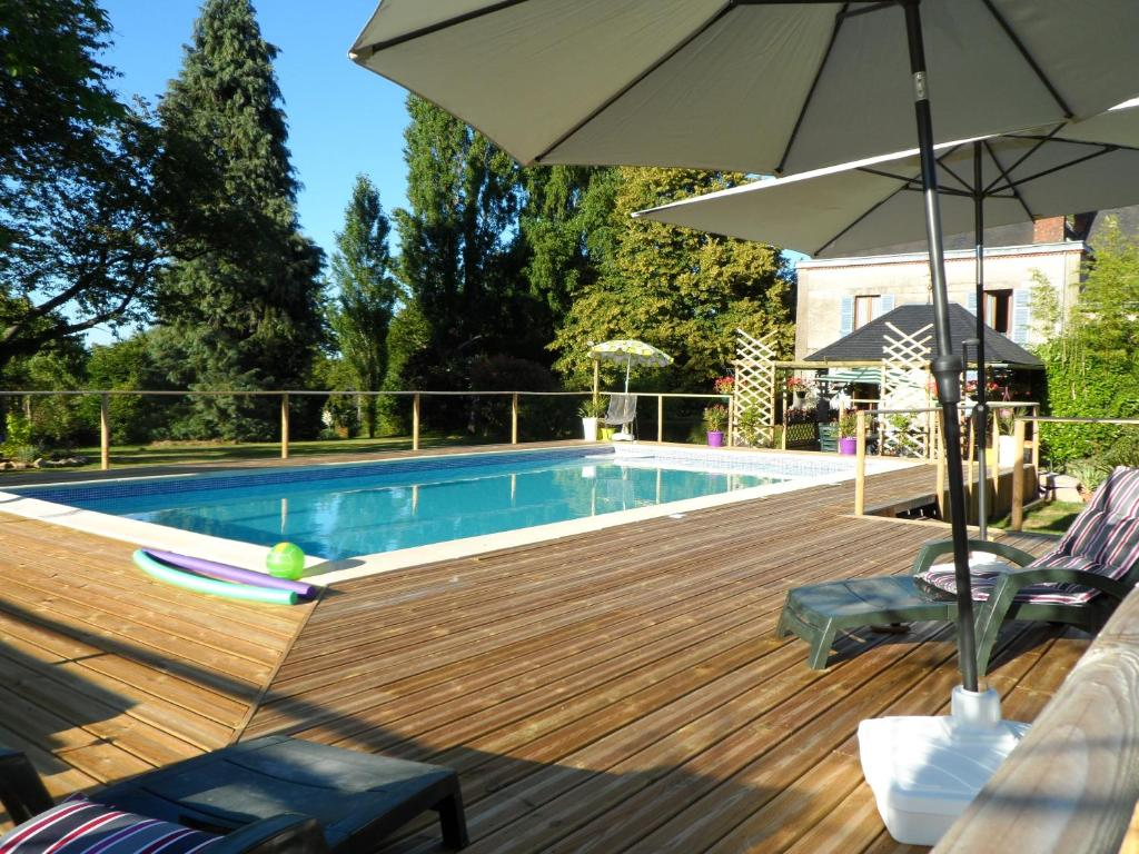 The swimming pool at or near Chez Beaumont