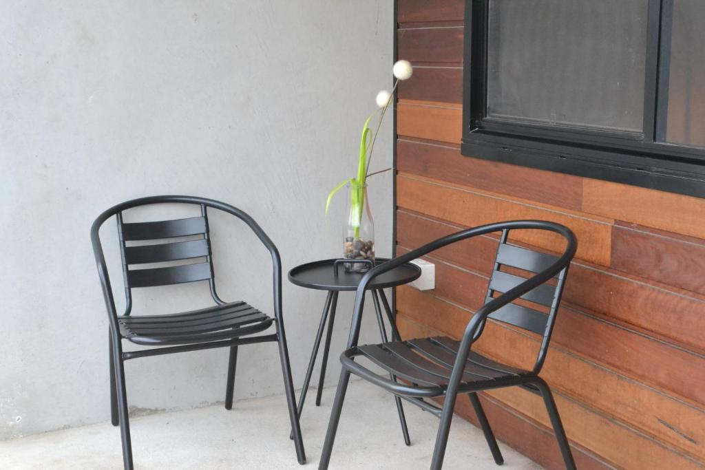 A seating area at 323 on Jetty