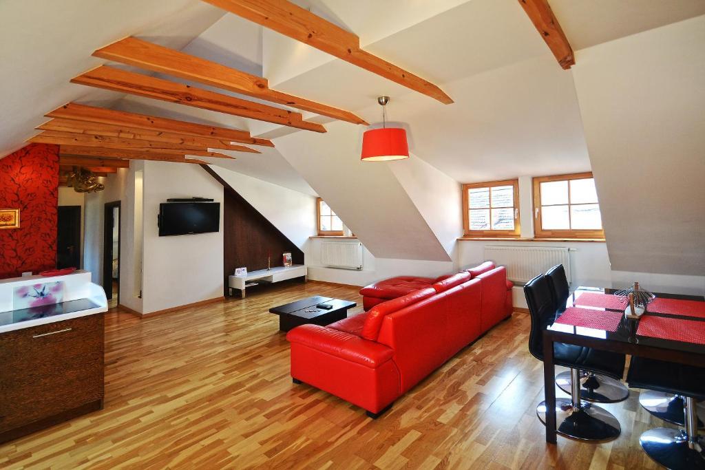 Area soggiorno di Rentida Apartments