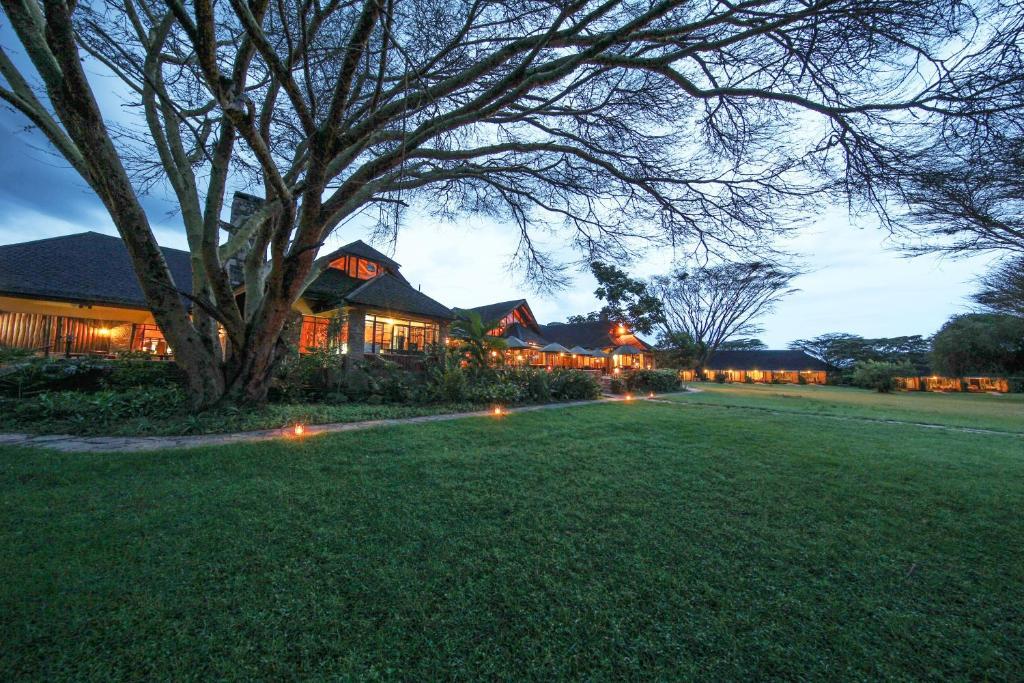 Jardin de l'établissement Keekorok Lodge
