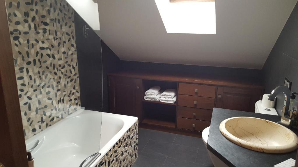A bathroom at Hostal Rural La Casa del Peregrino