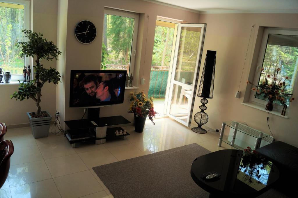 Telewizja i/lub zestaw kina domowego w obiekcie Apartament Maria