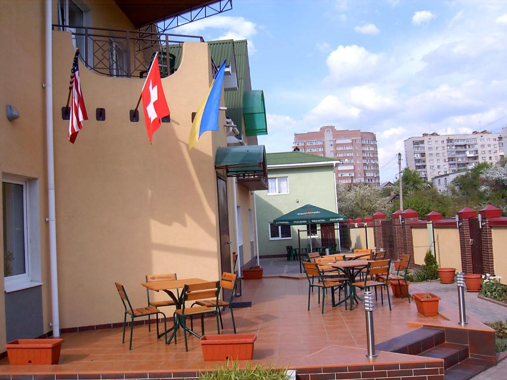A porch or other outdoor area at Hostel Sumy