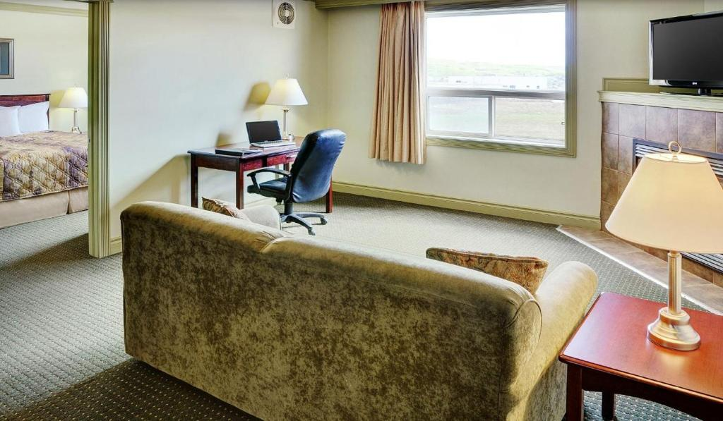 A seating area at Nova Inn Peace River