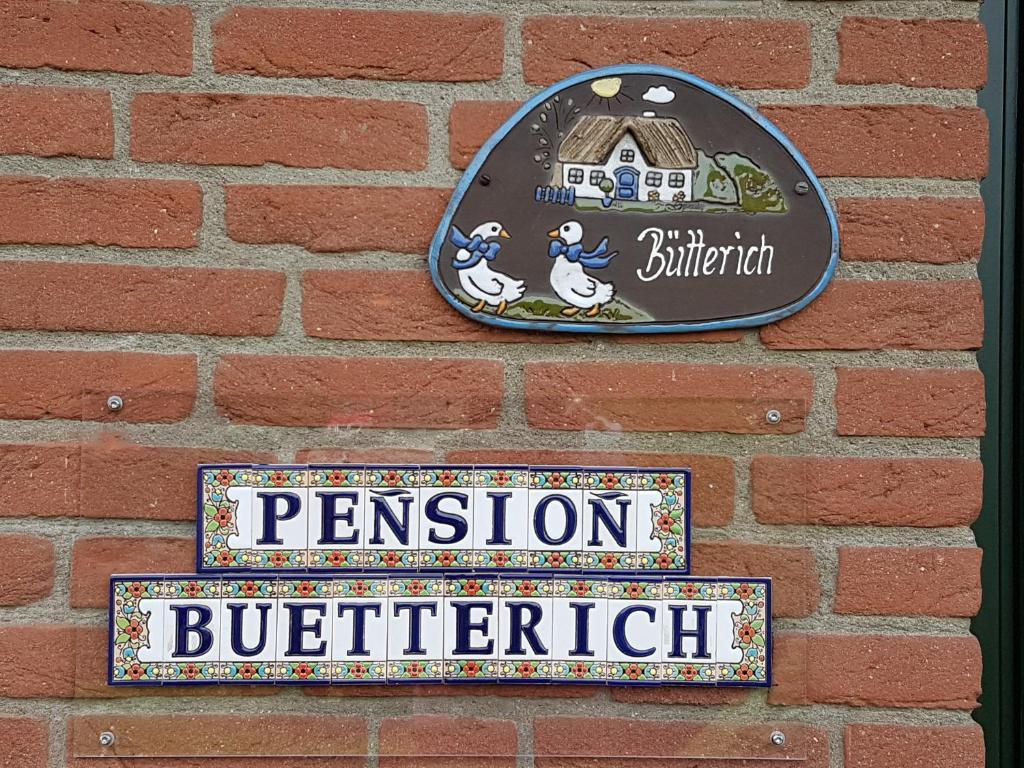 Ein Zertifikat, Auszeichnung, Logo oder anderes Dokument, das in der Unterkunft Pension Bütterich ausgestellt ist