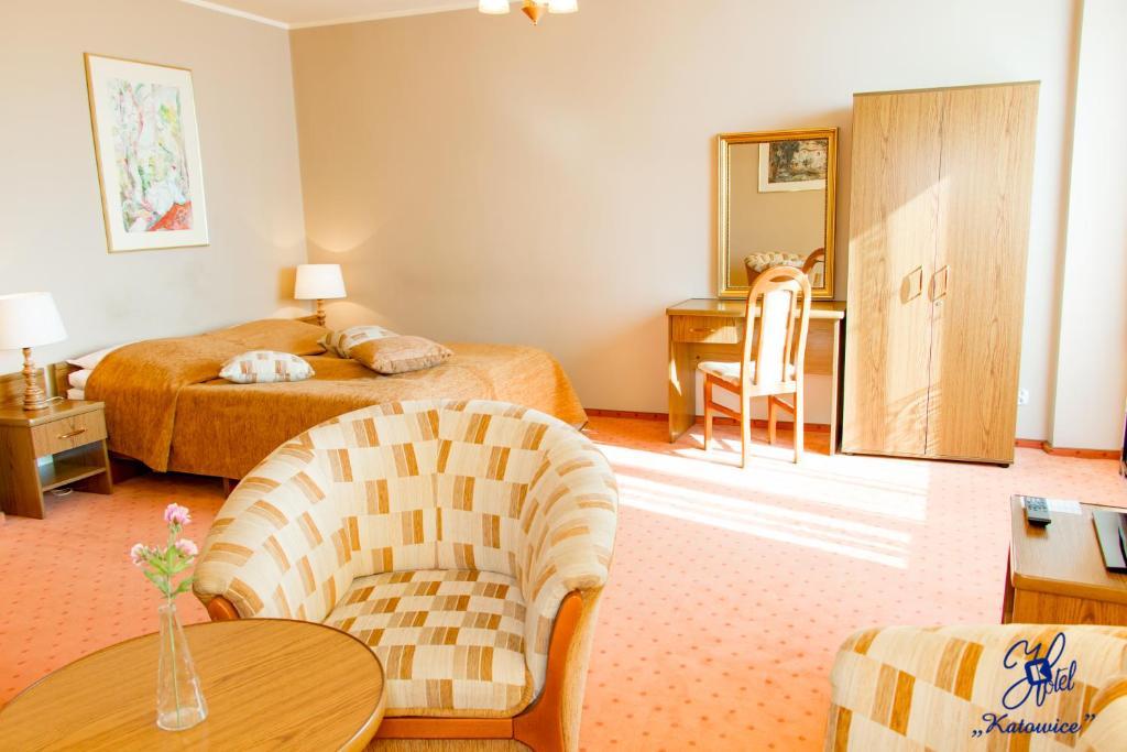 Hotel Katowice Economyにあるお部屋