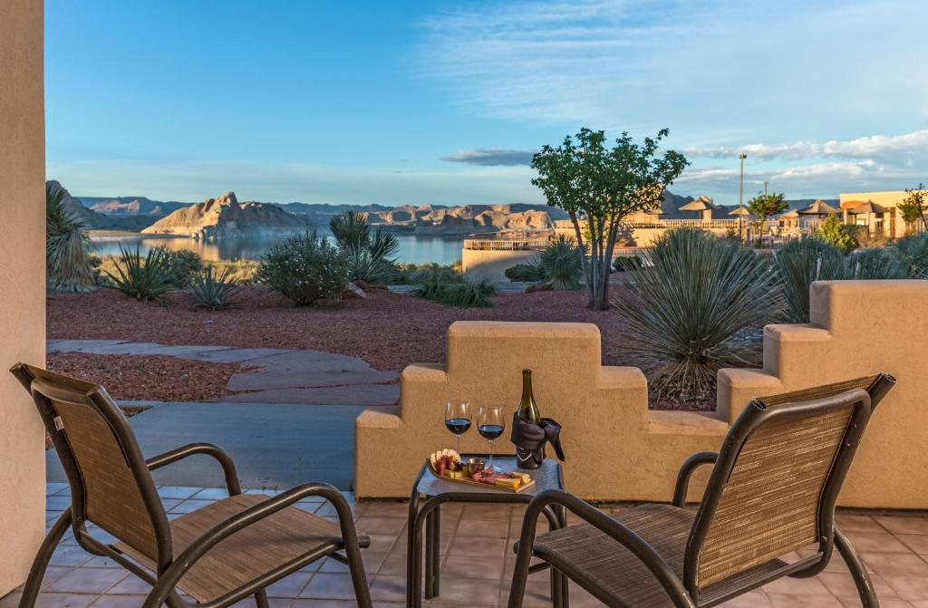 A porch or other outdoor area at Lake Powell Resort