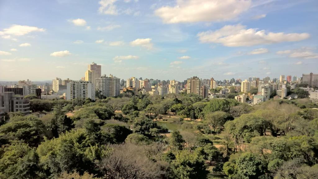 A general view of Porto Alegre or a view of the city taken from the hotel